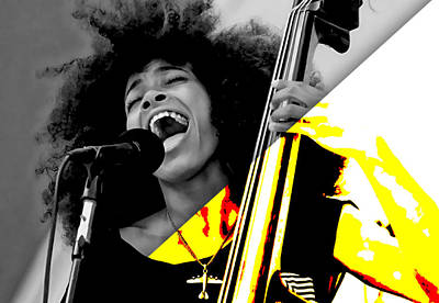 Esperanza Spalding Collection Print by Marvin Blaine
