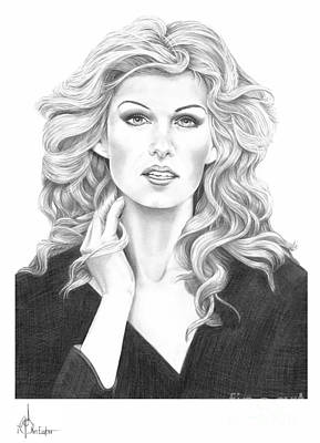 Famous People Drawing - Faith Hill by Murphy Elliott