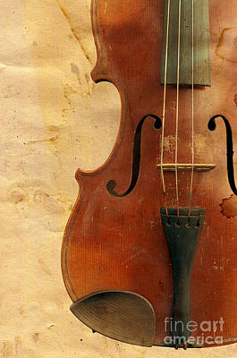 Violin Digital Art - Fiddle by Michal Boubin