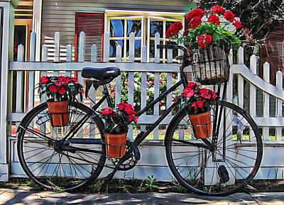 Flower Bike Collection Print by Marvin Blaine