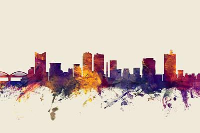 Worth Digital Art - Fort Worth Texas Skyline by Michael Tompsett