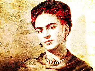 Painter Digital Art - Frida by Jose Espinoza