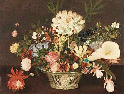 Peale Painting - From Nature In The Garden by Celestial Images