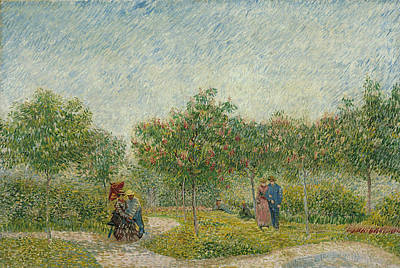 Urban Painting - Garden In Montmarte With Lovers by Vincent van Gogh