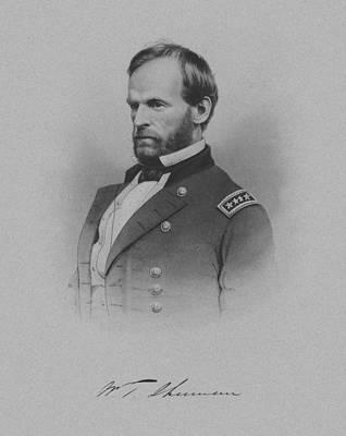 General William Tecumseh Sherman Print by War Is Hell Store