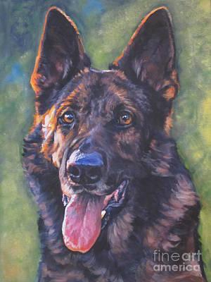 Shepherd Dog Painting - German Shepherd by Lee Ann Shepard