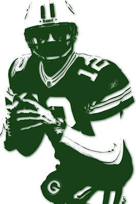 Green Bay Packers Aaron Rodgers Print by Joe Hamilton