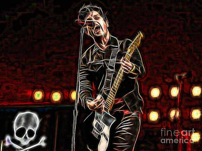 Green Mixed Media - Green Day Billie Joe Armstrong by Marvin Blaine
