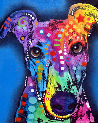 Colorful Painting - Greyhound by Dean Russo