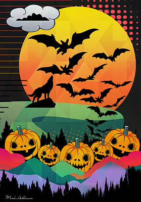 Halloween 10 Print by Mark Ashkenazi