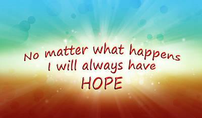 Hope Digital Art - Hope by Les Cunliffe
