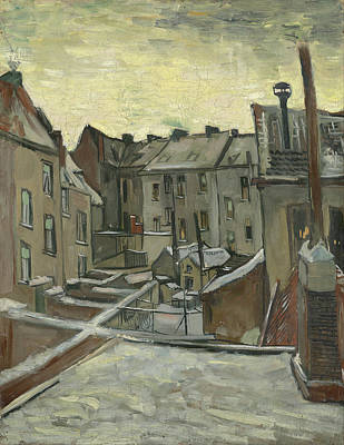 Ice Painting - Houses Seen From The Back by Vincent van Gogh