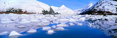 Icebergs In Portage Lake And Portage Print by Panoramic Images