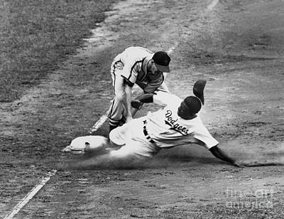 Ebbets Field Photograph - Jackie Robinson (1919-1972) by Granger
