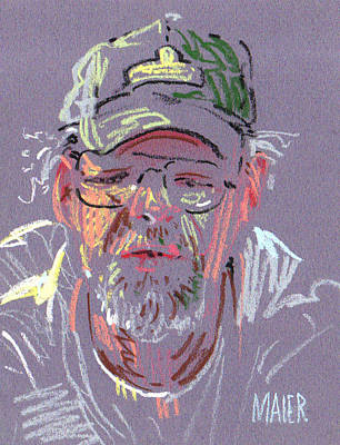 Pastel Portraits Drawing - James by Donald Maier