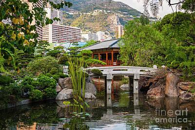 Japanese Garden In Monte Carlo Print by Elena Elisseeva