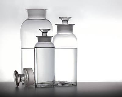 Water Jars Photograph - 3 Jars by Mark Wagoner
