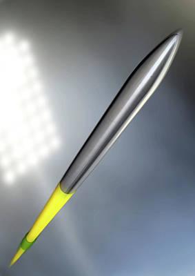 Turf Digital Art - Javelin In Night Stadium by Allan Swart