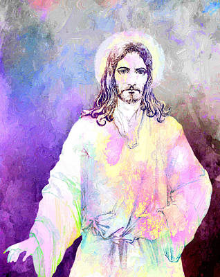 The Resurrection Of Christ Digital Art - Jesus Christ by Elena Kosvincheva