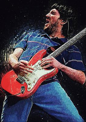 Pearl Jam Digital Art - John Frusciante by Taylan Soyturk