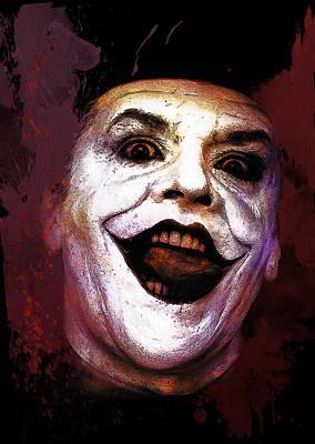 Batman Digital Art - Joker by Elena Kosvincheva