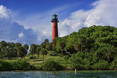 Jupiter Lighthouse Print by Laura Fasulo
