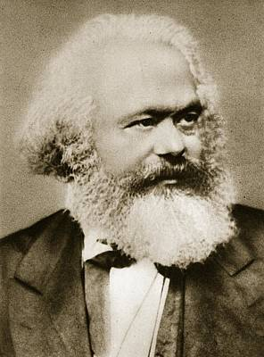 Left Photograph - Karl Marx by Unknown