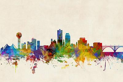 Cityscape Digital Art - Knoxville Tennessee Skyline by Michael Tompsett
