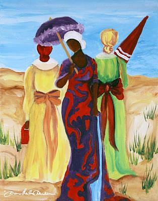 3 Ladies Print by Diane Britton Dunham