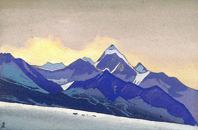 Mount Painting - Lahul by Nicholas Roerich