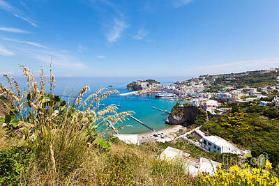 Landscape And Coast Of The Italian Island Ponza Print by Wolfgang Steiner