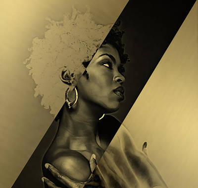Musician Mixed Media - Lauryn Hill Collection by Marvin Blaine