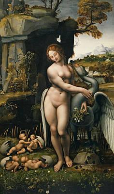 Leda Painting - Leda by Leonardo da Vinci