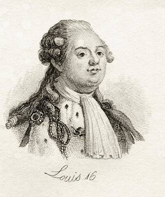 Louis Xvi 1754-1793 King Of France Print by Vintage Design Pics