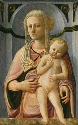 Cracks Painting - Madonna And Child by Fra Filippo Lippi