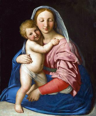 Sassoferrato Painting - Madonna And Child by Sassoferrato