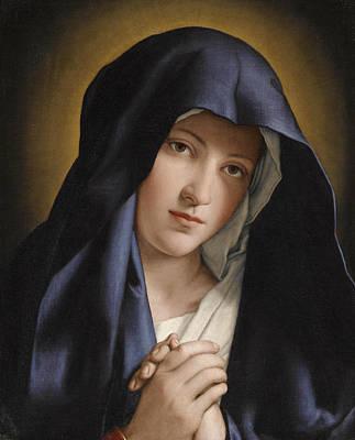 Sassoferrato Painting - Madonna At Prayer by Sassoferrato