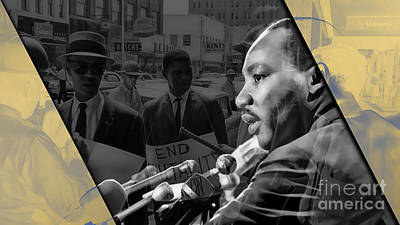 Poster Mixed Media - Martin Luther King Collection by Marvin Blaine