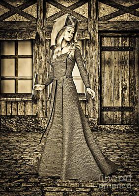 Digital Art - Medieval Lady by Design Windmill