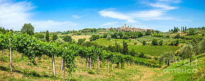 Skyscrapers Photograph - Vineyards Surrounding Medieval San Gimignano by JR Photography