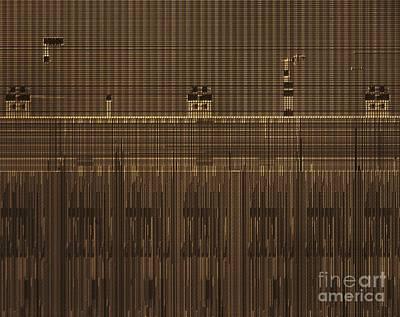 Microchip, Light Micrograph Print by Robert Markus