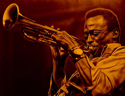 Miles Davis Collection Print by Marvin Blaine