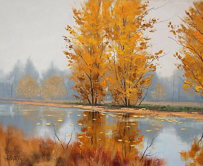 Misty Lake Print by Graham Gercken