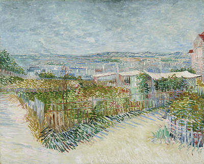Streetscape Painting - Montmartre, Behind The Moulin De La Galette by Vincent van Gogh