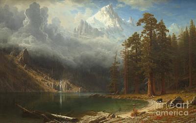 Mount Corcoran Print by Albert Bierstadt