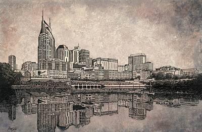 Nashville Skyline  Print by Janet King