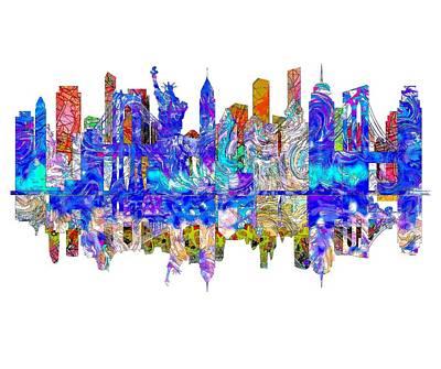 Brooklyn Bridge Drawing - New York by John Groves