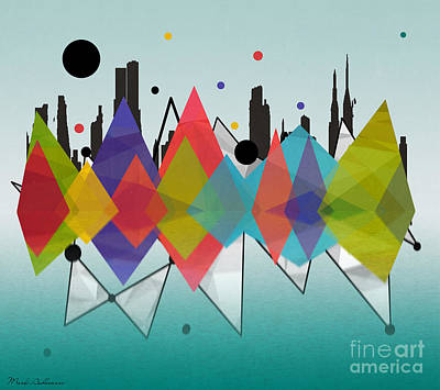 Big Cities Digital Art - new York  by Mark Ashkenazi
