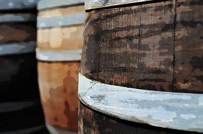 Wine Photograph - Oak Wine Barrel by Brandon Bourdages