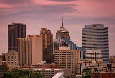 Metro Art Photograph - Okc Skyline by Ricky Barnard